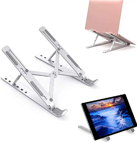 HFGHGDF Soporte Portátil Mesa 7 Ángulos Ajustables Aleación de Aluminio Soporte Ordenador Ventilado Plegable Laptop Stand Ligero Soporte Mesa para PC