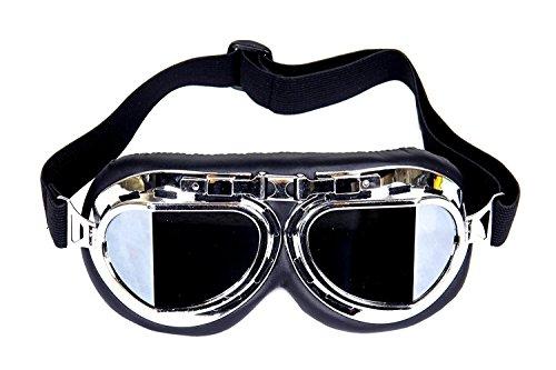 Dcolor Gafas Lente Lens Tipo Aviador contra Viento para Moto Harley Vintage