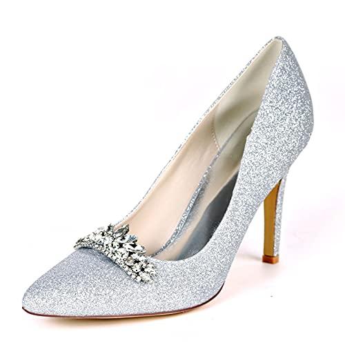 9.5cm Verano Zapatos de Boda, Sexy Zapatos de Tacón para Mujer con...