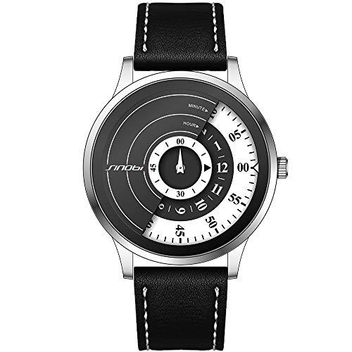 SINOBI Reloj De Cuarzo Deportivo para Hombre con Diseño De Acero Inoxidable y Personalidad De con Pulsera De Malla (S9845G-SILVER)