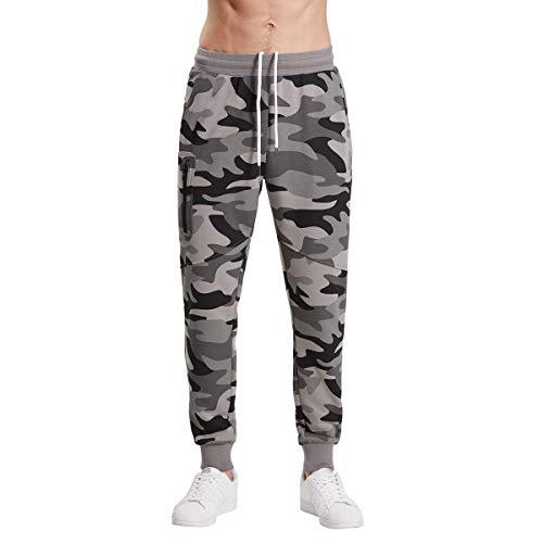 Extreme Pop Hombre Pantalones de chándal Militares de Camuflaje con Estampado Reflectante UK Brand