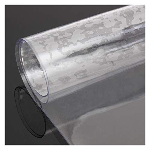 LSSB Transparente Protector Mesa a Prueba de Agua Resistente Al Calor 1,0/1,5/2,0/3,0 Mm Espesores PVC Plastico Manteles Resistente Al Desgaste Silla Alfombrilla para Hogar Cocina Oficina