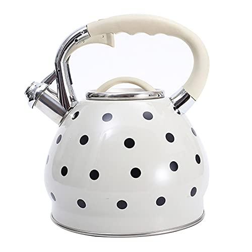 3.5L Silbato de acero inoxidable Kettle Punto de Punto Lindo Punto de Té Pot Shoulder Agua de fondo plano Utensilios de cocina para todas las tops de la estufa Pot de té de grado alimenticio