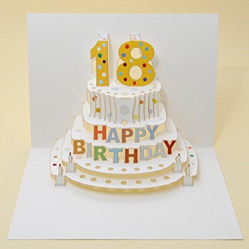 Siempre tarjetas hechas a mano Pop Ups POP05 - 18th cumpleaños - láser tarjeta Pop Up