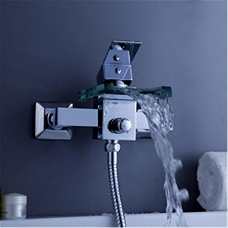 Bijjaladeva Wasserhahn Bad Wasserfall Mischbatterie Waschbecken WaschtischBadewanne Armatur Voll Kupfer heie und Kalte Dusche Kit Verpackt Personalisierte Wasserventil