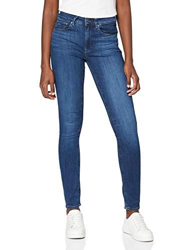 G-STAR RAW Damen Jeans 3301 High Waist Skinny, Blau (Medium Blue Aged 8968-9362), 34W / 32L