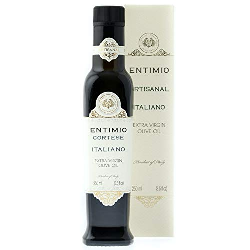 Entimio Cortese | Medium Organic Olive Oil Extra Virgin | 2019 Harvest Italian Olive Oil from Italy, Tuscany, Award Winning | Early Harvest, High Polyphenol, Keto Friendly | 8.5 fl oz