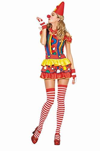 TH-MP Clownkostüm Clown Damenkostüm Faschingskostüm Karnevalskostüm Fasching (38)