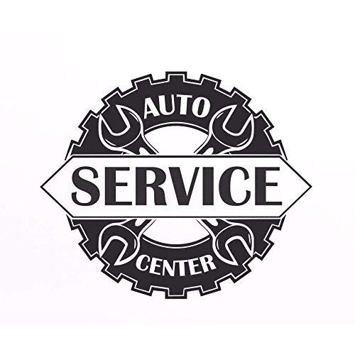 Auto Service Center Teken Venster Sticker Vinyl Decal Reparatie Bus Station Teken Garage Wanddecoratie Verwijderbare 67X56Cm
