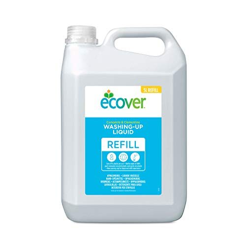 Ecover Washing Up Liquid Refill, Camomile & Clementine, 5 L