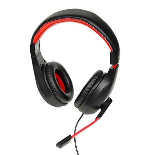 iBox SHPIX4MV Schwarz, Rot Ohrumschließend Kopfband - Kopfhörer (Ohrumschließend, Kopfband, Verkabelt, 20-20000 Hz, 2,4 m, Schwarz, Rot)