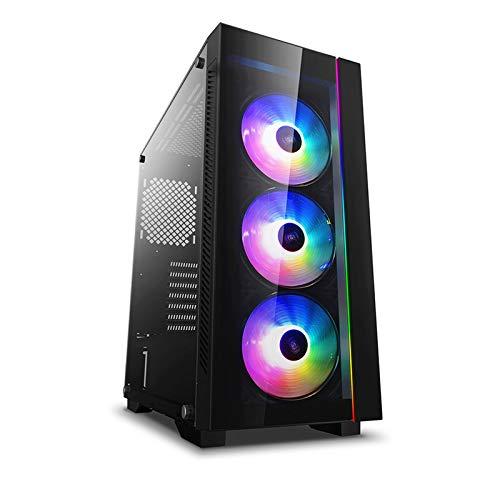 DEEP COOL MATREXX 55 V3 ADD-RGB 3F, Case PC, Computer Desktop Supporta la Scheda Madre E-ATX, con 3 Ventole ARGB