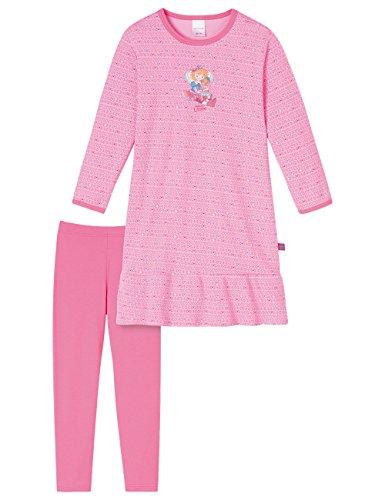 Schiesser Mädchen Prinzessin Lillifee 1/1 mit Leggings Nachthemd, Rot (rosé 506), 98