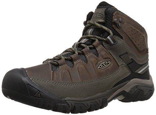 KEEN Men's Targhee iii mid Leather wp-m Hiking Boot, Bungee Cord/Black, 12 M US