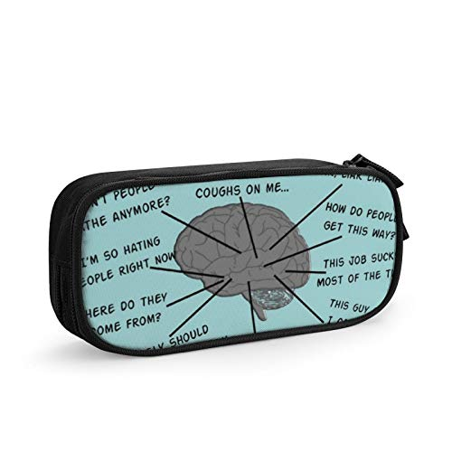 Multi Pen Bag Pencil Case Cosmetic Pouch Makeup Bag Zipper Stationery Bag Storage Box for School Supplies & Office Women Girl,Atlas of Pharmacy Tech Brain