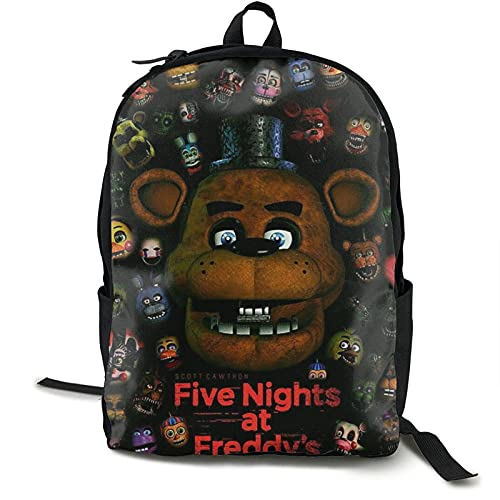 Zainetto scolastico per ragazze e ragazzi, 5 notti al Freddy resistente all'acqua, durevole, casual, ideale per studenti