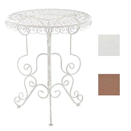 CLP Eisen-Tisch MINORE rund Ø 62 cm, Höhe 72 cm, Design Antik Weiß