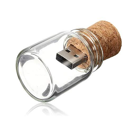 Chiavetta USB 32GB Pendrive Trasparente Drift Bottle Pennetta USB 3.0 Carina 32 GB Chiave USB 32 Giga Penna USB Divertenti Sughero Bicchiere Pennina USB come Regalo per Natale e Compleanni