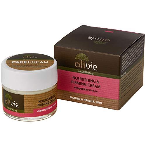 Olivie Gesichtscreme Nutriente und Entfettung mit Biologischem Olivenöl, 60 ml, mit Caviar und Oligopeptidi, Dermatologisch getestet