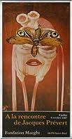 ポスター ジャック プレヴェール Papillon 1987 額装品 アルミ製ベーシックフレーム(シルバー)