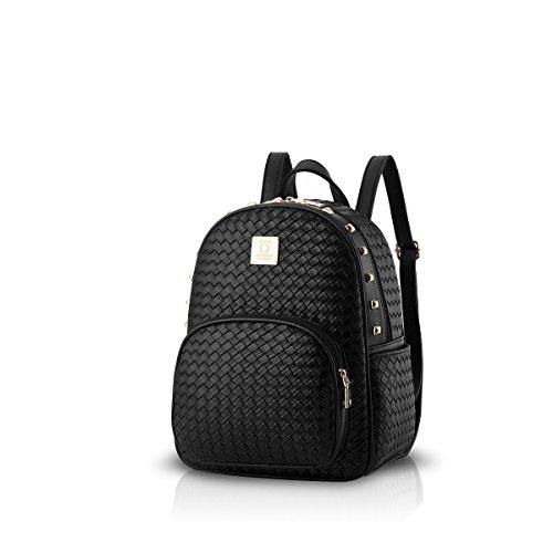 NICOLE & DORIS Rucksack Damen Frauenrucksack Handtaschen Modischer Umhängetasche Rucksack für Damen Schwarz