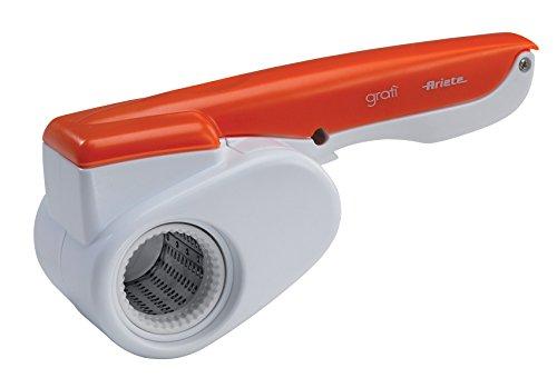 Ariete 440, Gratí Rallador eléctrico, Batería integrada recargable y autonomía 1.000 h, color blanco, naranja