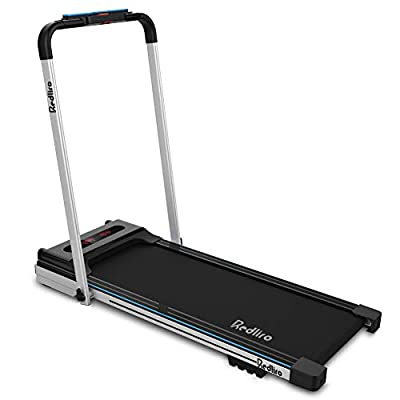 REDLIRO Under Desk Bed Treadmill 2 in 1 Walking Machine Portable Space Saving Fitness Motorized Folding Treadmill Electric for Home Office Workout Indoor Exercise Machine Physical Training