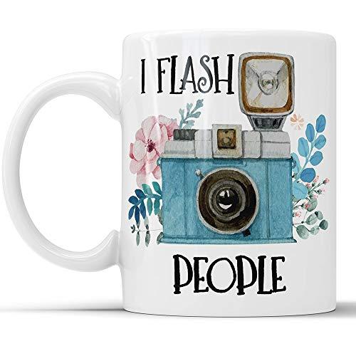 WTOMUG I Flash People Mug - Funny Camera Photography Coffee Mug Perfect Novelty Gag Gift For Photographers Photography Lovers (11 oz)