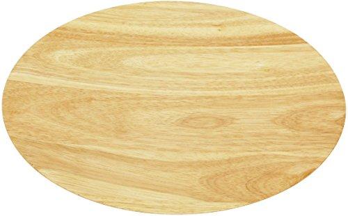丸和貿易 ラバーウッド 丸トレー ナチュラル 30cm 1003804-02