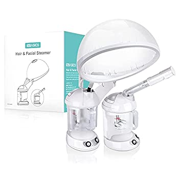 Hair Steamer EZBASICS 2 in 1 Ion Facial Steamer with Extendable Arm Table Top Hair Humidifier Hot Mist Moisturizing Facial Atomizer Spa Face Steamer Design for Personal Care Use At Home or Salon