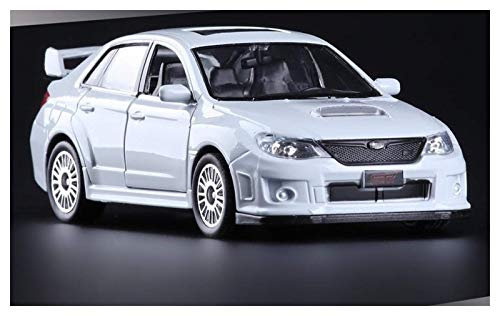 Model Car 2011 para Subaru para Impreza 1:36 Escala Alta Simulación Coupé Metal Tirar hacia atrás para los Autos STI de WRC 2 Abrir Puerta Modelo Juguetes para niños (Color: Blanco) jianyou