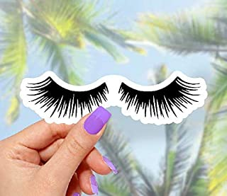 Eyelashes Sticker - for Laptops, Water Bottles and Windows