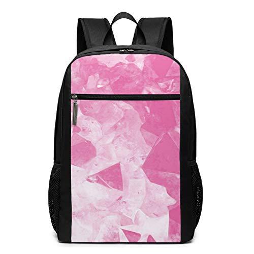 School Backpack Pink Violet Mauve Irregular Artistry, College Book Bag Business Travel Daypack Casual Rucksack for Men Women Teenagers Girl Boy
