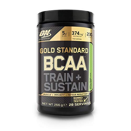 Optimum Nutrition Gold Standard BCAA, Amino Acid Powder, Vitamin C with Zinc, Magnesium and Electrolytes, Immune Booster, Apple and Pear, 28 Servings, 266 g, Packaging May Vary