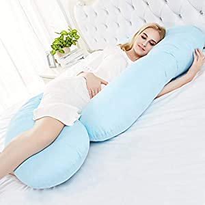 SURPZON Pregnancy Pillow C Shaped Maternity Pillow Full Body Pillow and for Sleeping with Removable Cover Support Back, Hips, Legs, Belly Pregnant Women