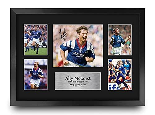 HWC Trading FR A3 Ally McCoist Rangers Geschenken Gedrukt Gesigneerd Autograph Foto voor Voetbalfans en Supporters – A3…