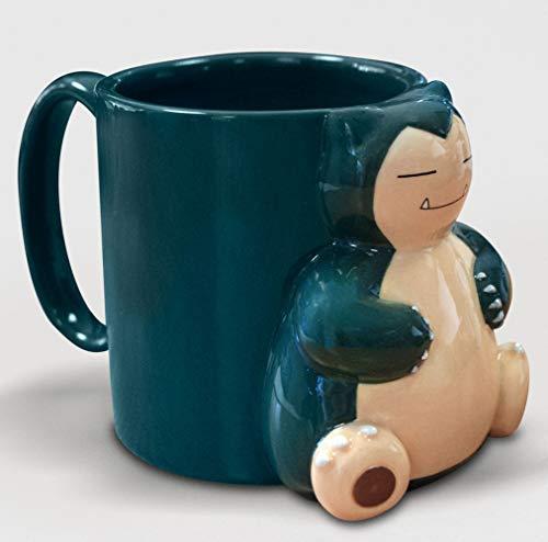empireposter Pokemon - Snorlax - 3D Mug Keramik Tasse Becher - H 10 Ø 8,2 cm