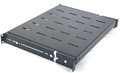 RAISING ELECTRONICS 2Pack Sliding Rack Server Shelf 1U 19inch 4 Post Rack Mount-Adjustable 15inch-22inch