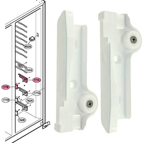 Rieles guías superiores cajón frigorífico Lg GRL2060TQA GRL2067TTQA GRL2070FV GRL2271GVXA GRL2273GLRA GRL2278HVRA