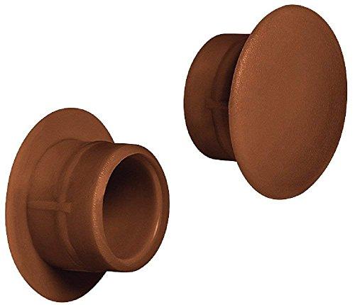 Gedotec Möbel-Abdeckkappen braun Schrauben-Abdeckungen Kunststoff Schrauben-Kappen rund - H1117 | Ø 12 mm | für Blindbohrung | 50 Stück