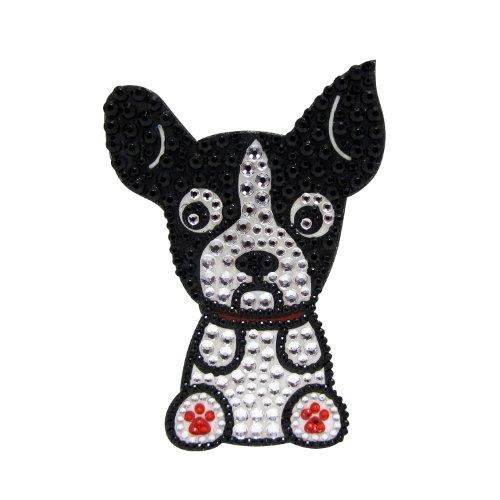 FouFou Dog Sticker à Strass Boston Terrier
