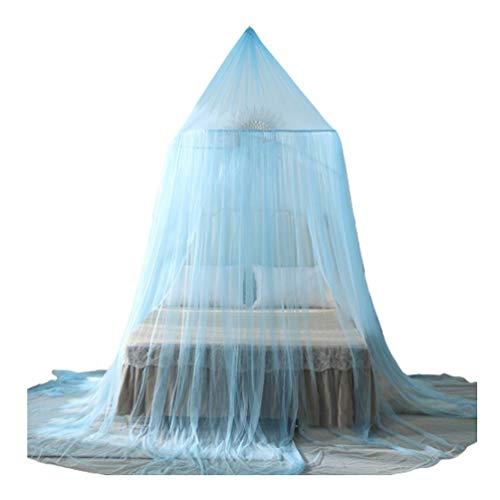 Round Hoop hängendes Moskitonetz,Fliegennetz Mückennetz Outdoor einfache Anbringung Bed Canopy für Single Double Bett Schlafzimmer Einfache Installation