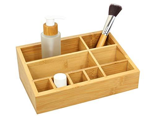 Woodquail - Organizer per Cosmetici in bambù Naturale