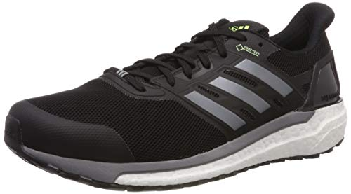 adidas Herren Supernova GTX M Laufschuhe, Schwarz (Core Black/Grey Three F17/Hi/Res Yellow Core Black/Grey Three F17/Hi/Res Yellow), 45 EU
