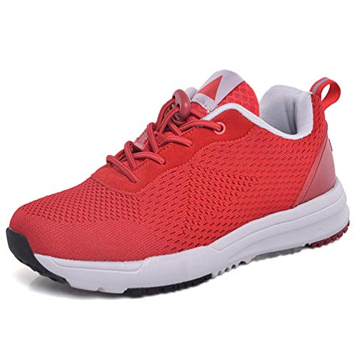 Fashion Middle-Aged Women Sneaker Antiskid Womens Sneakers Autumn Winter Elderly Woman Safety Shoes Red 6
