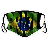 Na 1 Sicherheit Staubdicht Half Face Mundschutz Brasilien Text brasilianische Flagge Bedruckte Abdeckung