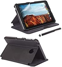 Verizon Folio Case, Screen Protector and Stylus Pen Bundle for LG G Pad X8.3 Android Tablet - Black