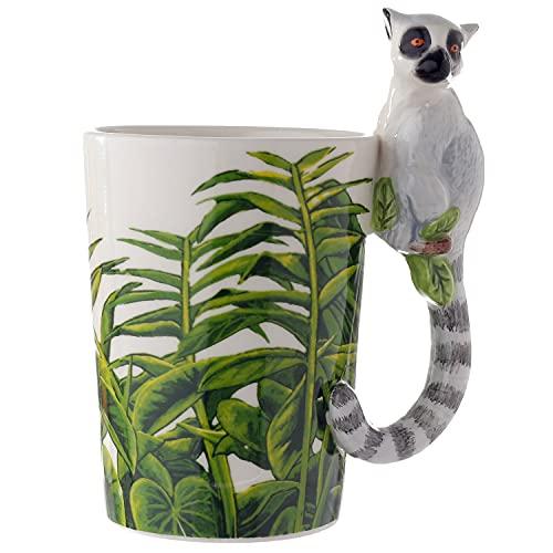 Puckator SMUG28 Kaffeebecher Lemur, 12x8,5x14,5cm