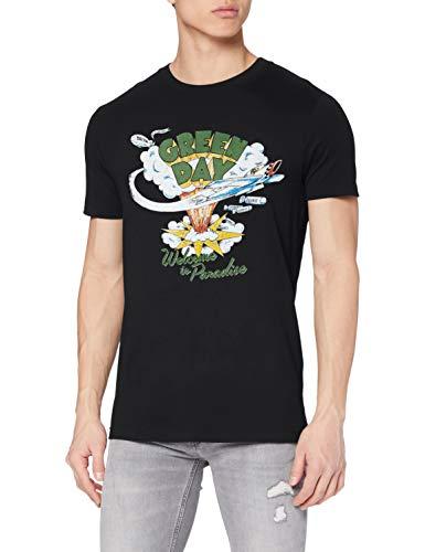 MERCHCODE Herren Green Day Paradise Tee T-Shirt, Black, L