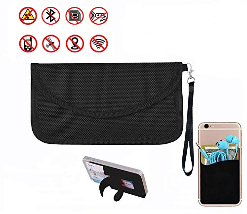 Best Faraday Bag,100% Anti-Spying Anti-Tracking GPS RFID Signal Blocker Bag for Cell Phone Privacy Protection and Car Key FOB, Healthy Handset Privacy Protection Data Security & Travel.